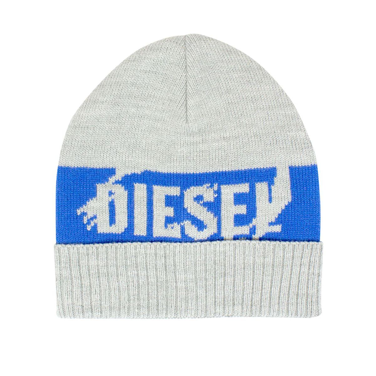 Hat with contrasting logo band Grey Diesel