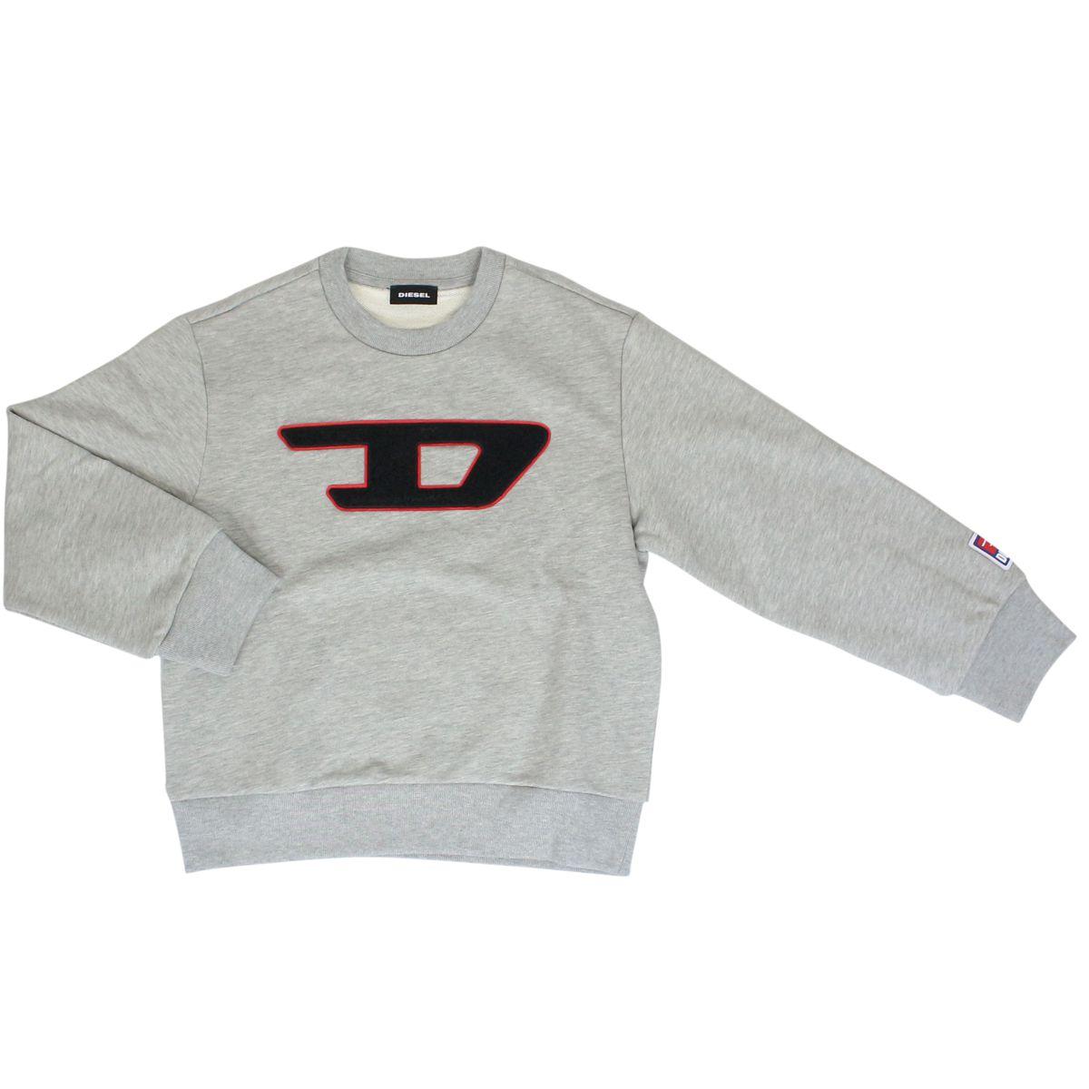 Cotton sweatshirt with sponge patch Grey Diesel