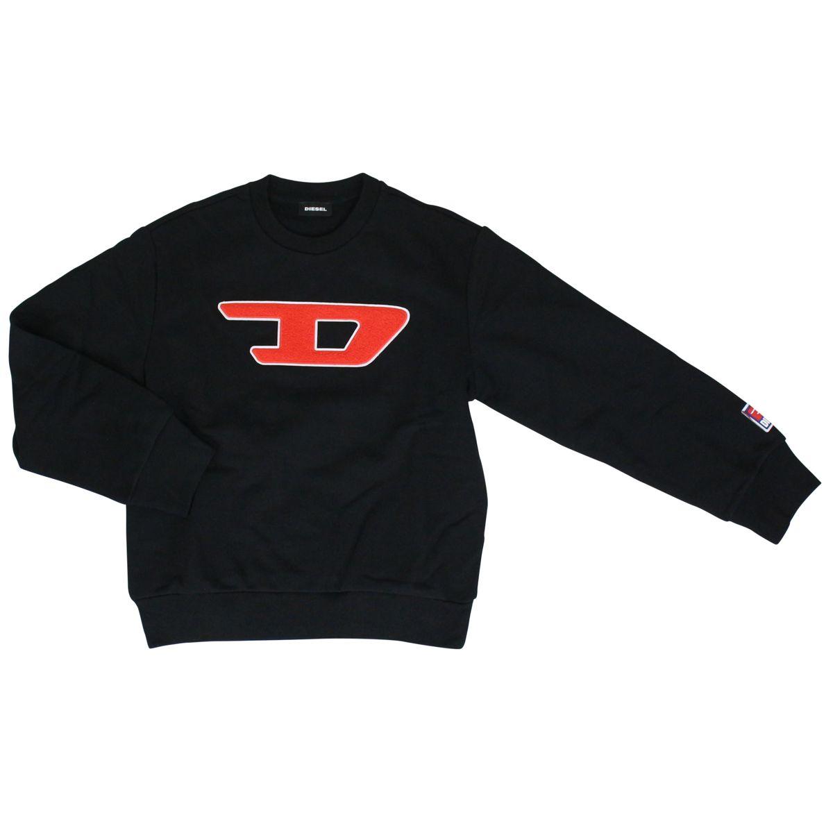 Cotton sweatshirt with sponge patch Black Diesel