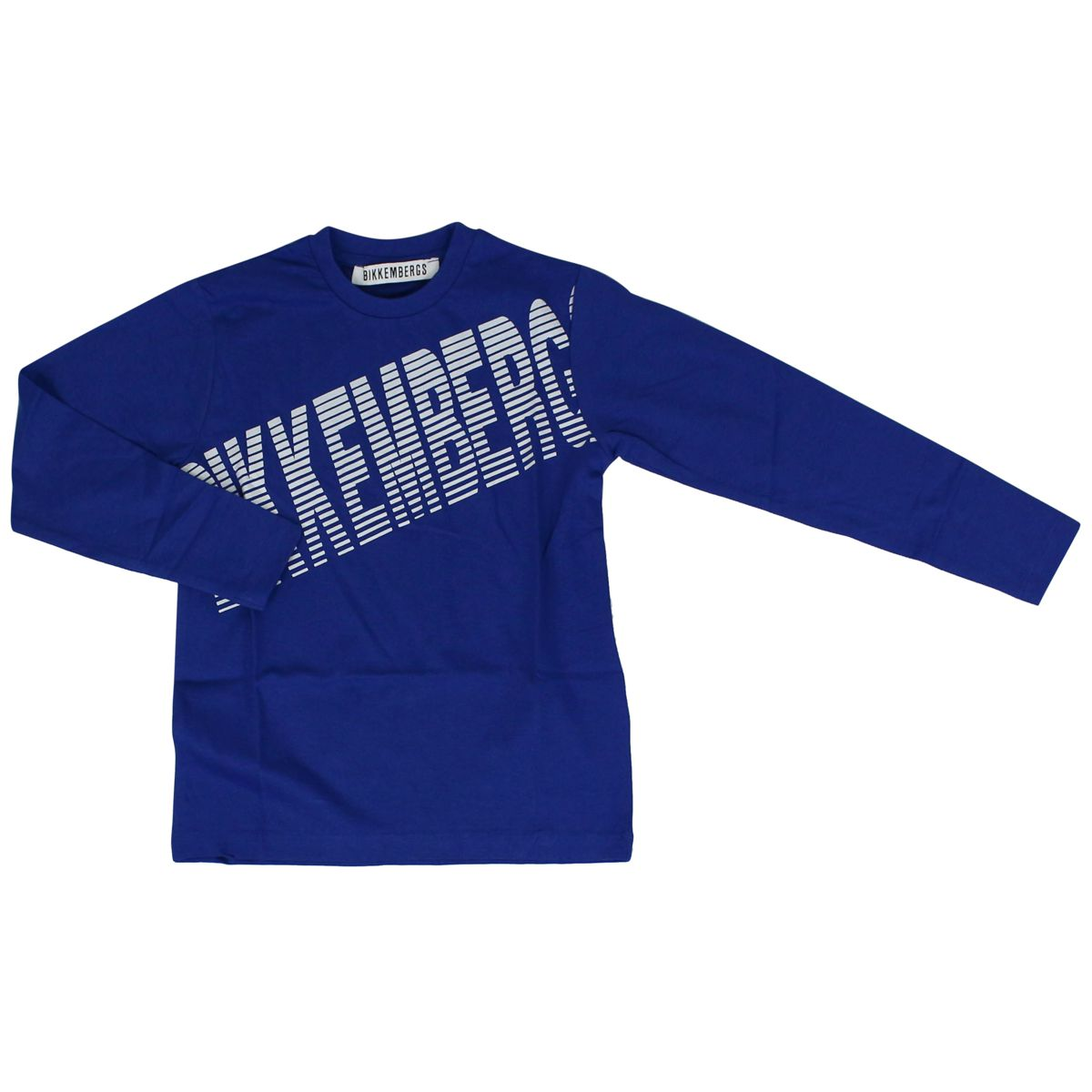 Cotton sweater with oblique logo print Bluette Bikkembergs