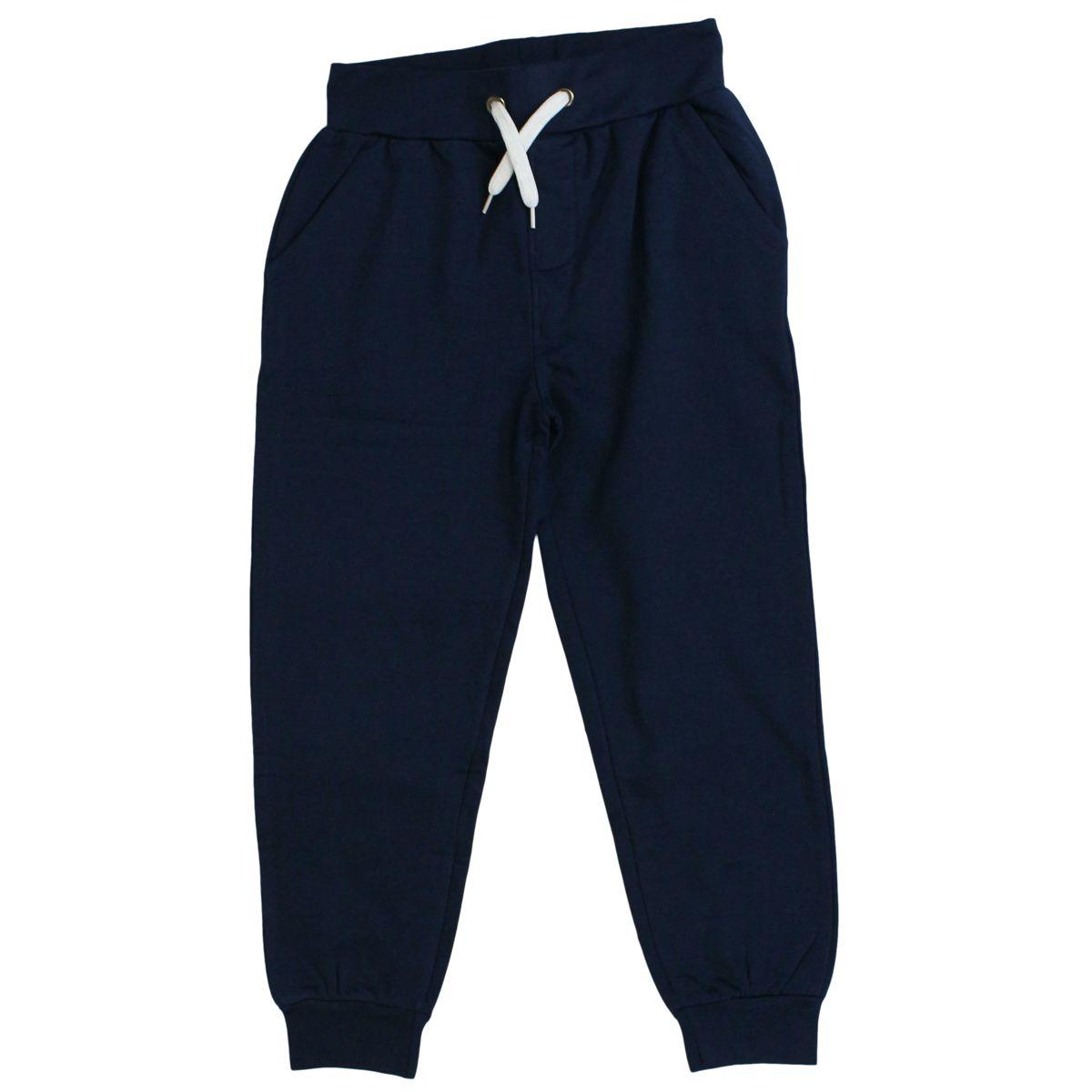 Cotton jojjing trousers with logo Blue Bikkembergs