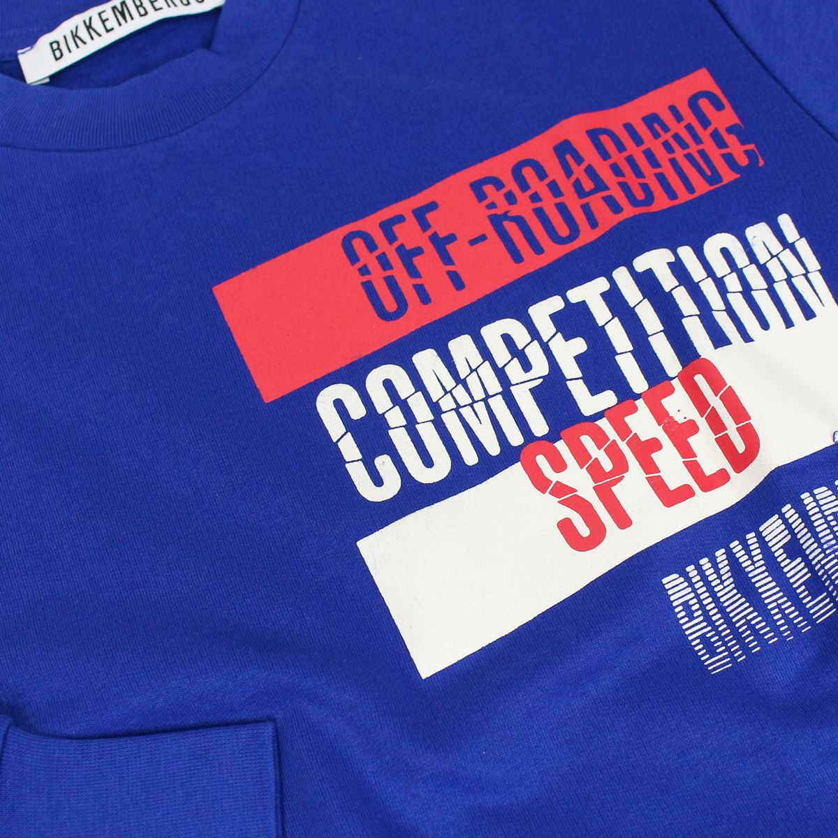 Cotton crew neck sweatshirt with prints Bluette Bikkembergs