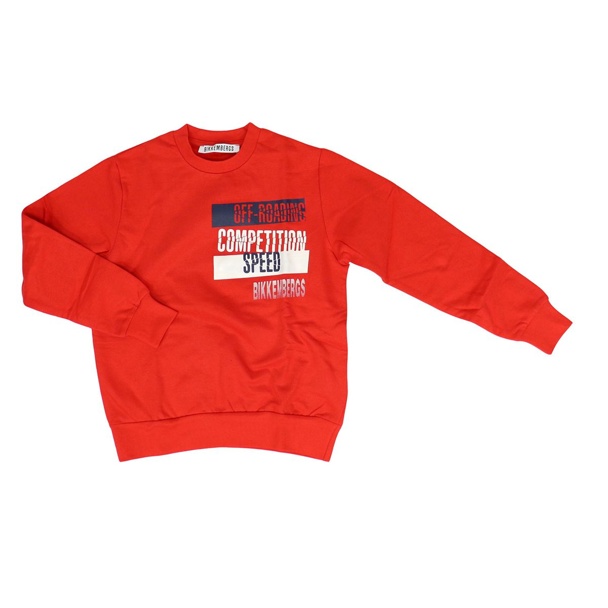 Cotton crew neck sweatshirt with prints Red Bikkembergs