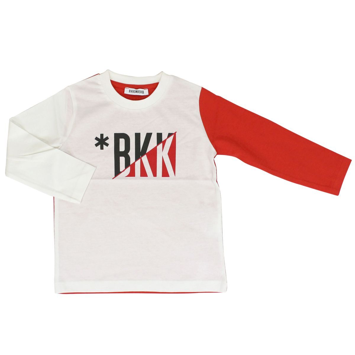 Sweater with sleeves White red Bikkembergs