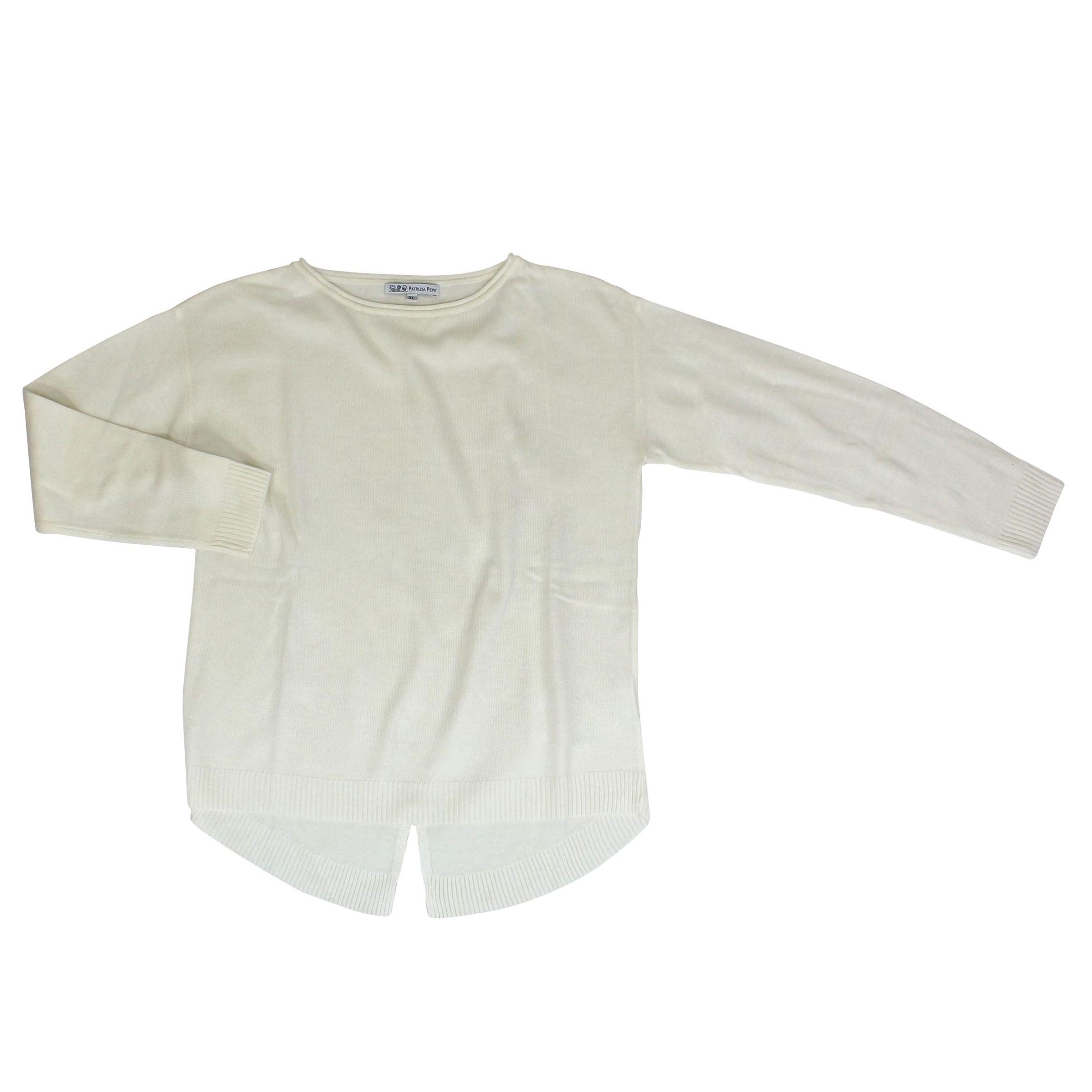 premium selection e62ea f2eea Maglia in misto lana con spacco sul retro