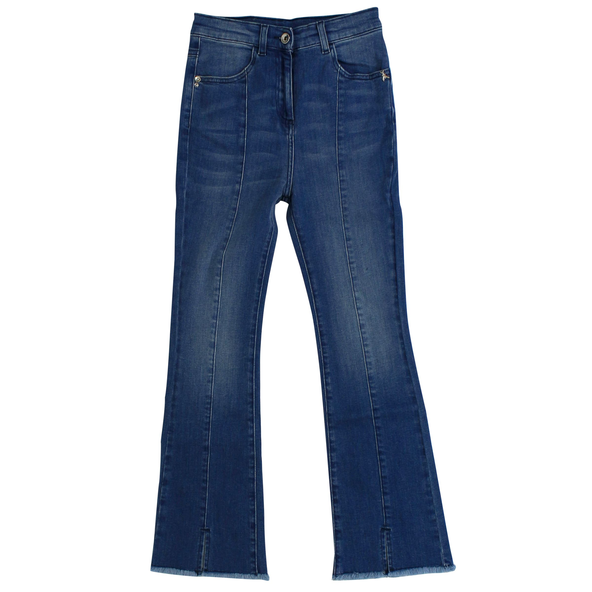 buy online 91e02 e9b63 Bell-shaped stretch jeans with fringed bottom