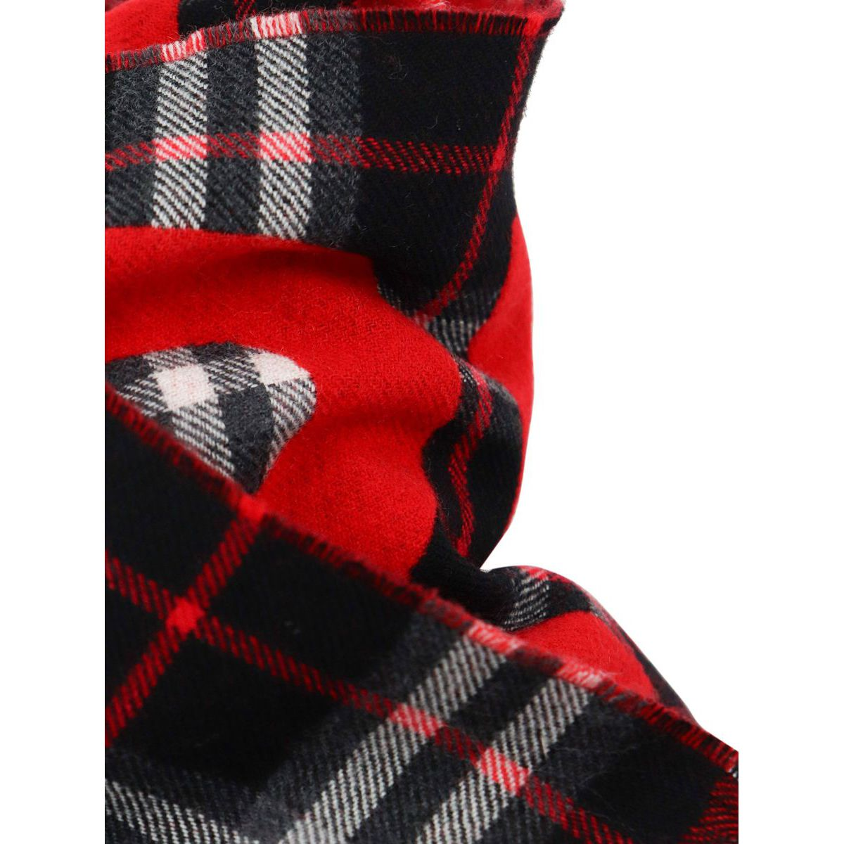 Wool scarf with check and logo motif Black Burberry