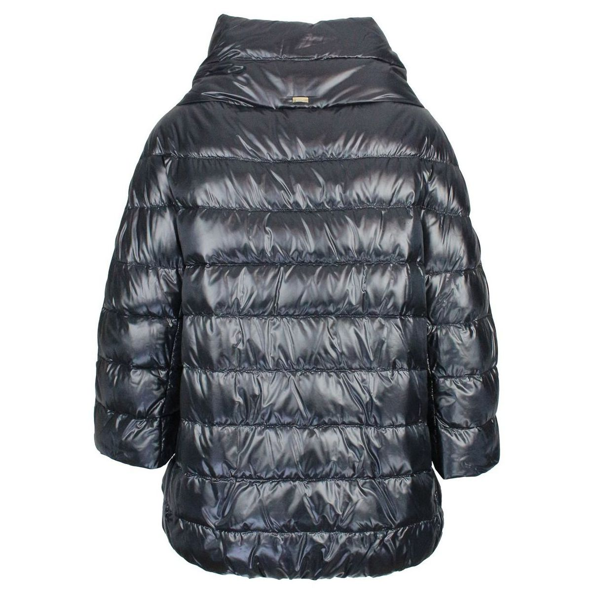 Aminta long hood in quilted nylon Black Herno