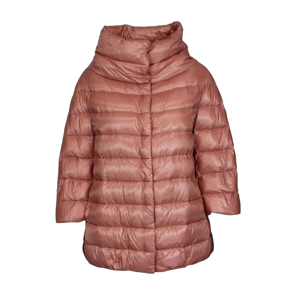 Aminta long hood in quilted nylon Rose Herno