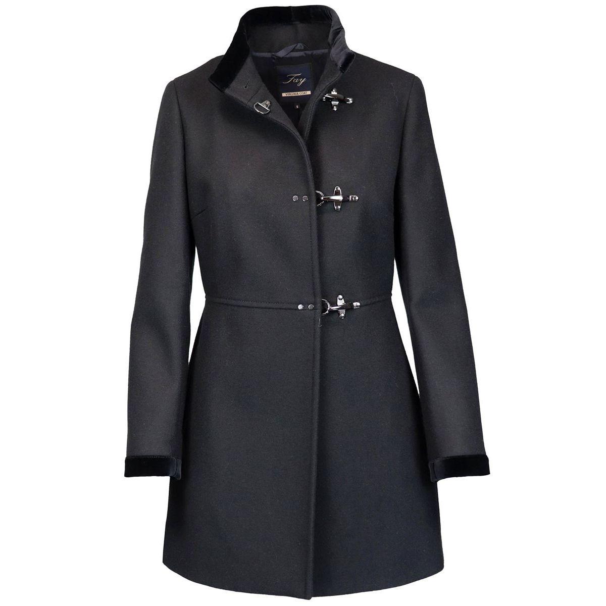 cappotto nero donna in panno