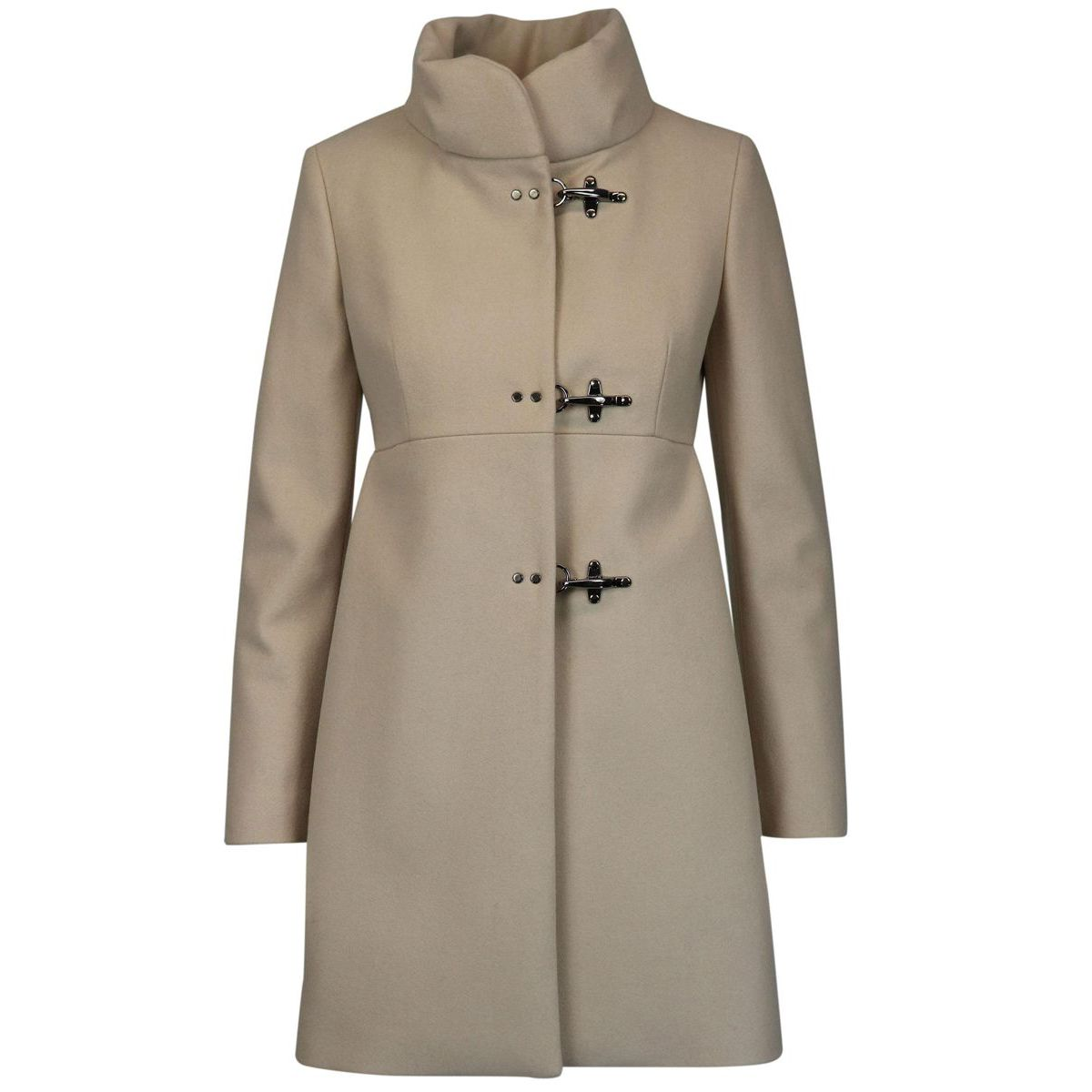 Collar coat standing with 3 hooks in woolen cloth Face powder Fay