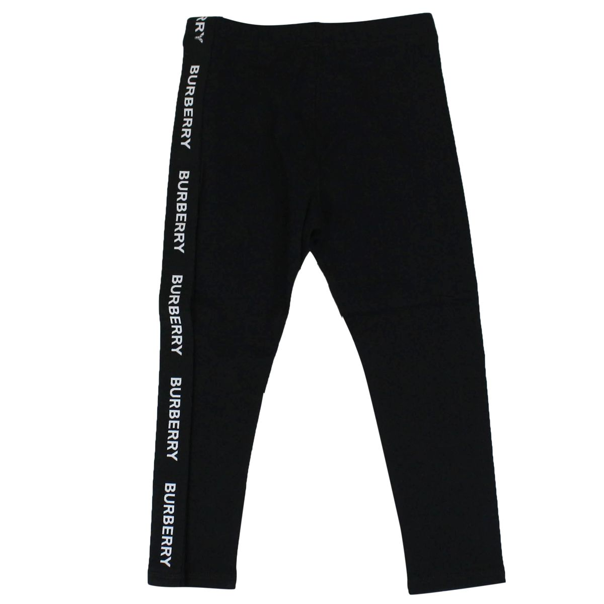 Cotton leggings with logoed bands Black Burberry