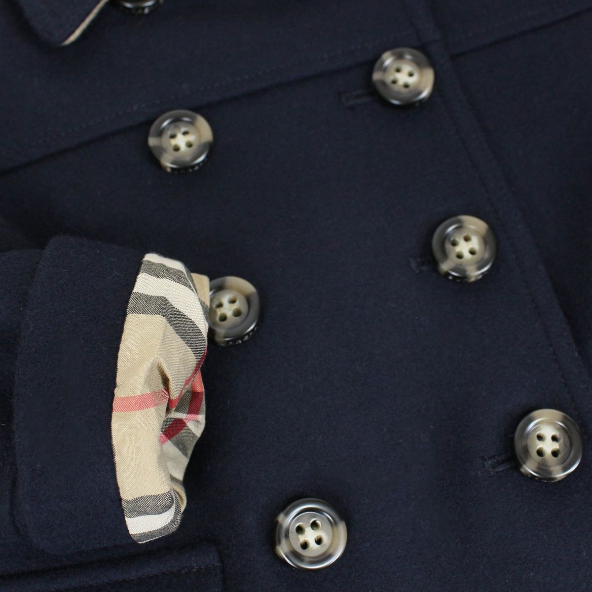 Pure wool Amaya trench with buttons Blue Burberry