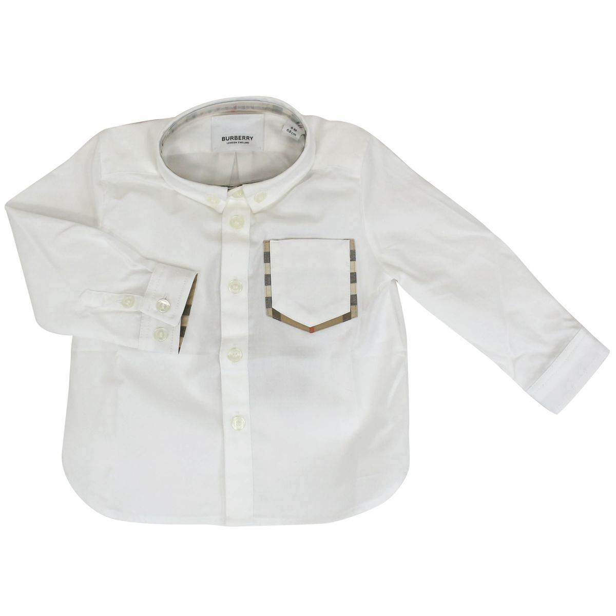 Harry shirt with button-down collar and check interior White Burberry