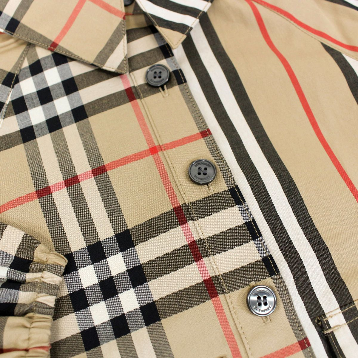 Checkered fabric dress Beige check Burberry