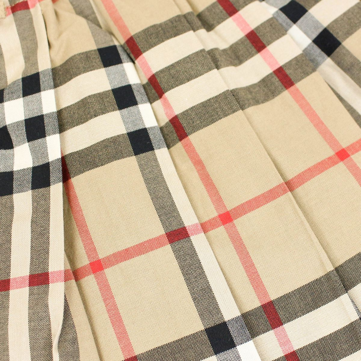 Pleated skirt with check and bows motif Beige check Burberry