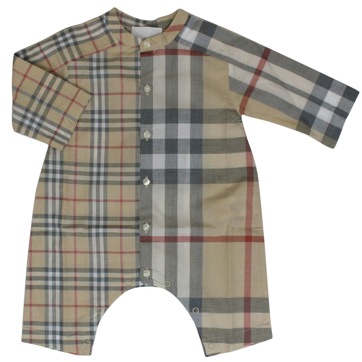 Jumpsuit with check pattern and stand-up collar Beige check Burberry