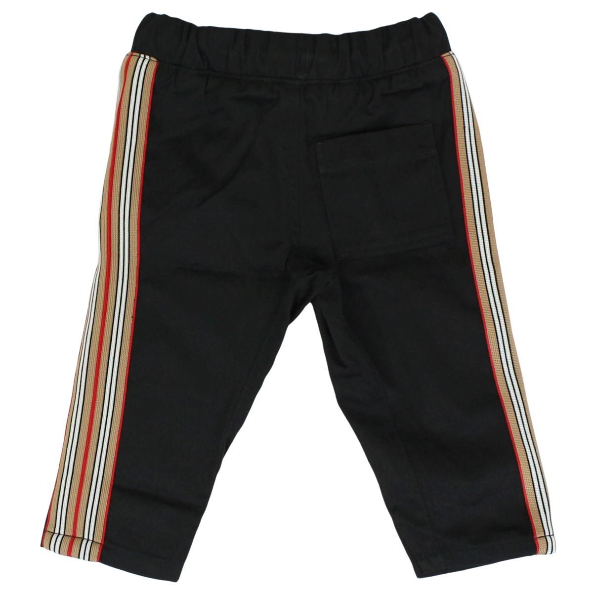 Cotton jojjing trousers with striped bands Black Burberry