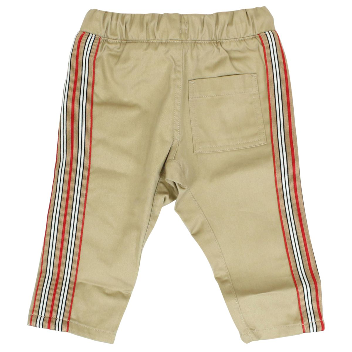 Jojjing trousers with check striped bands Honey Burberry