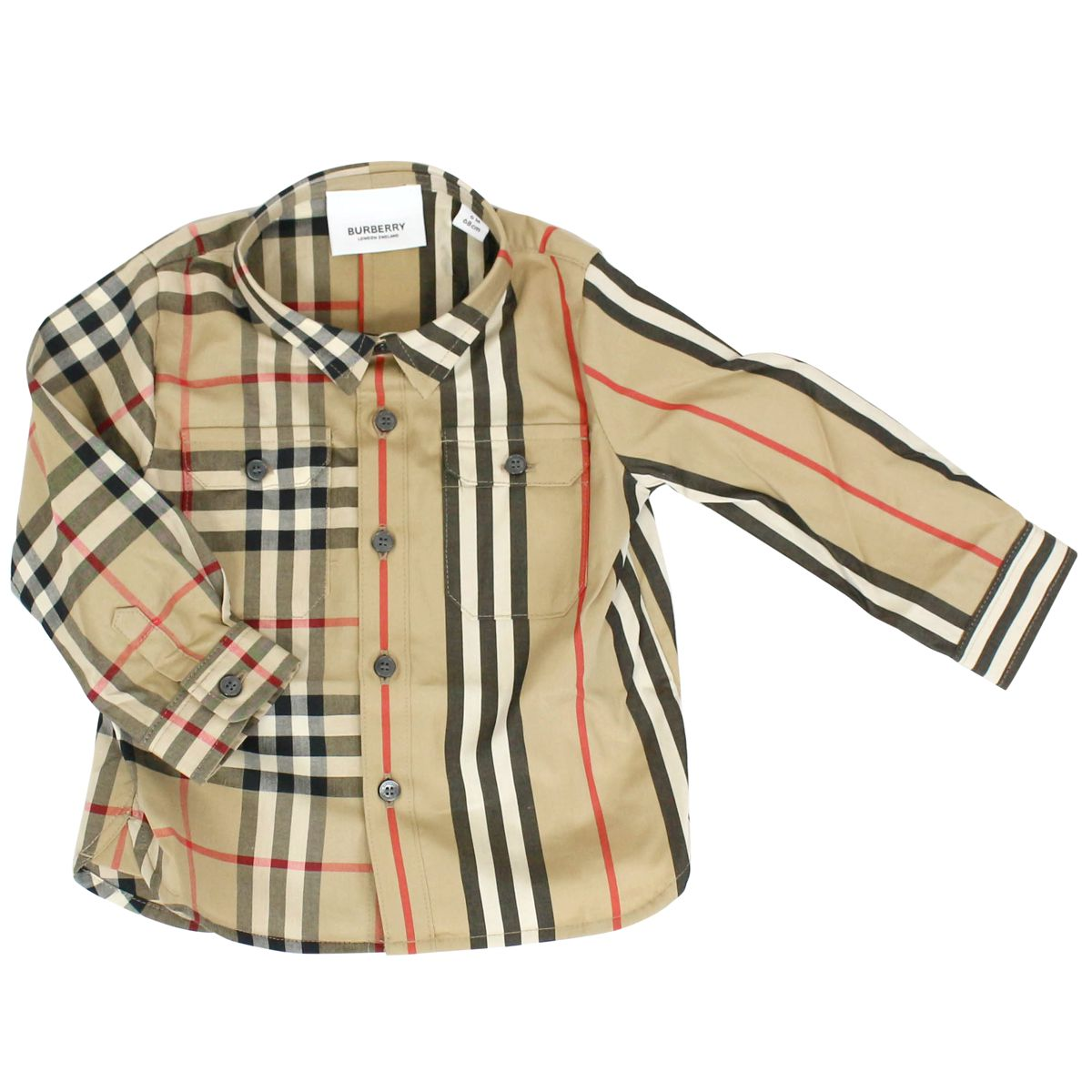 Amir shirt with check all over pattern Beige check Burberry