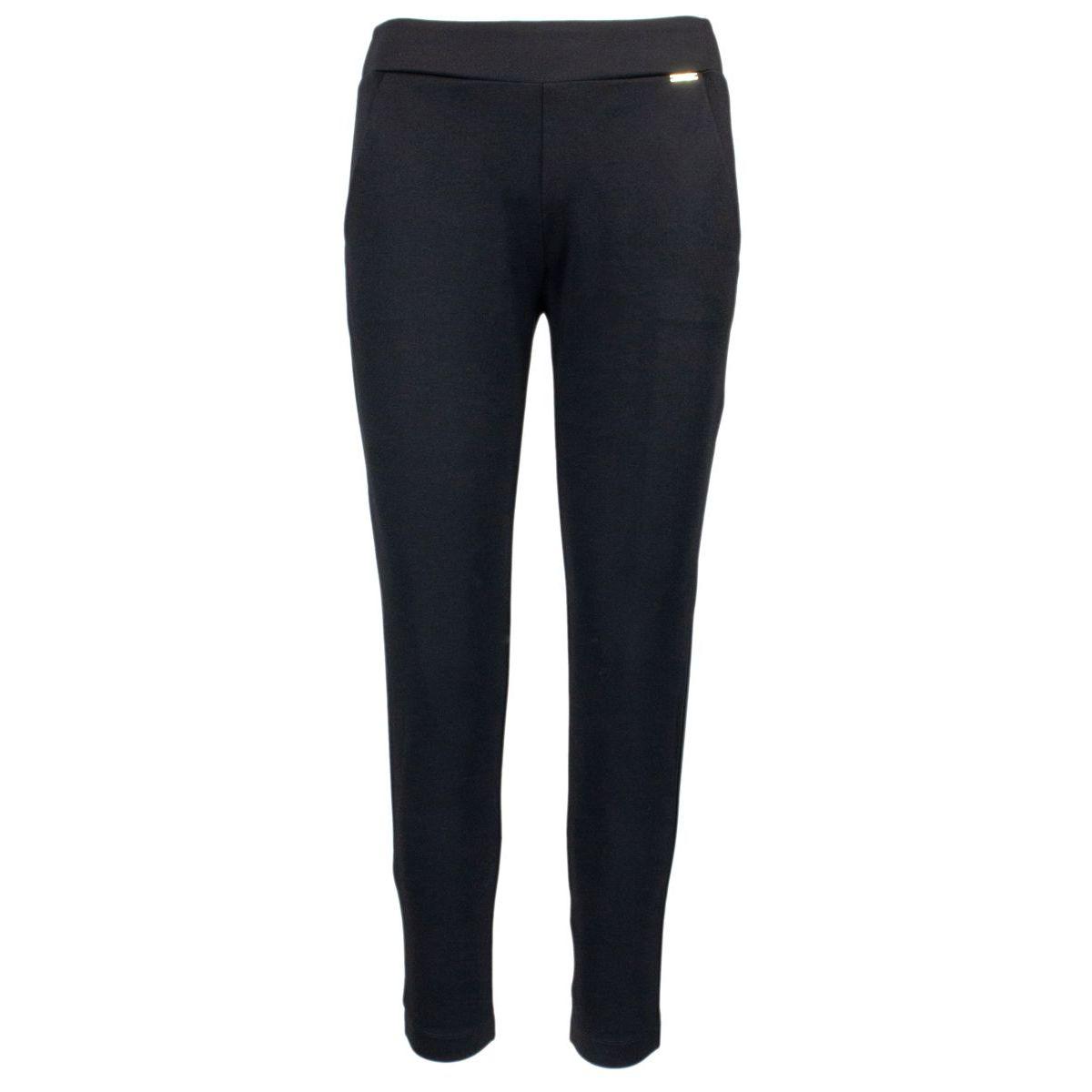 Stretch Elizabeth trousers in viscose blend Black Nenette