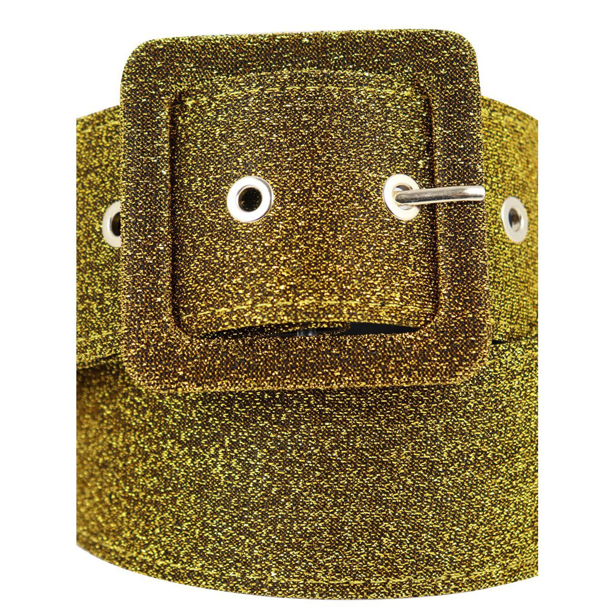 Glitter belt with buckle Yellow Nenette