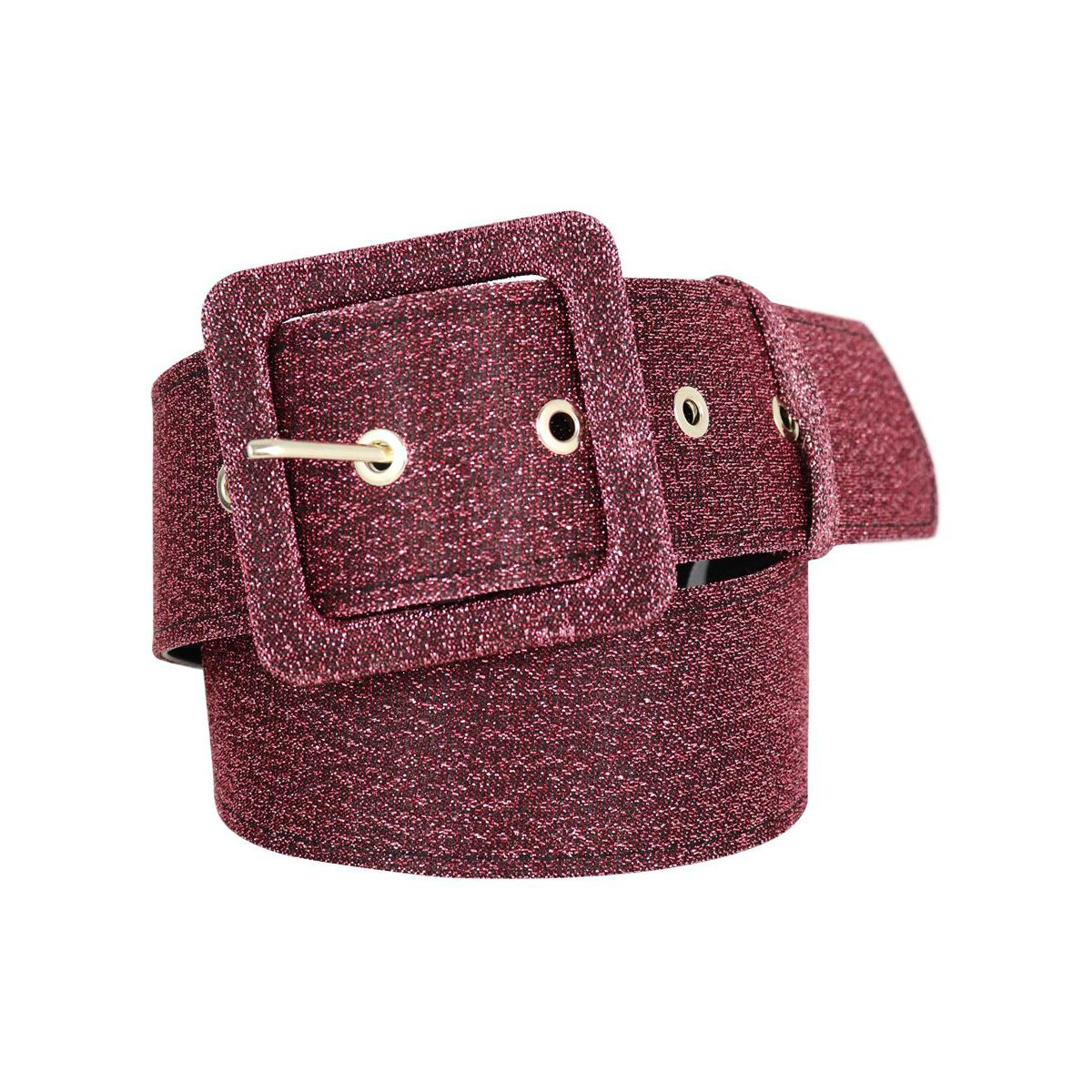 Glitter belt with buckle Deep pink Nenette