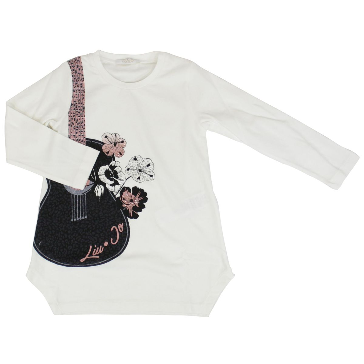 Cotton outfit with guitar and flower print White / blue Liu Jo