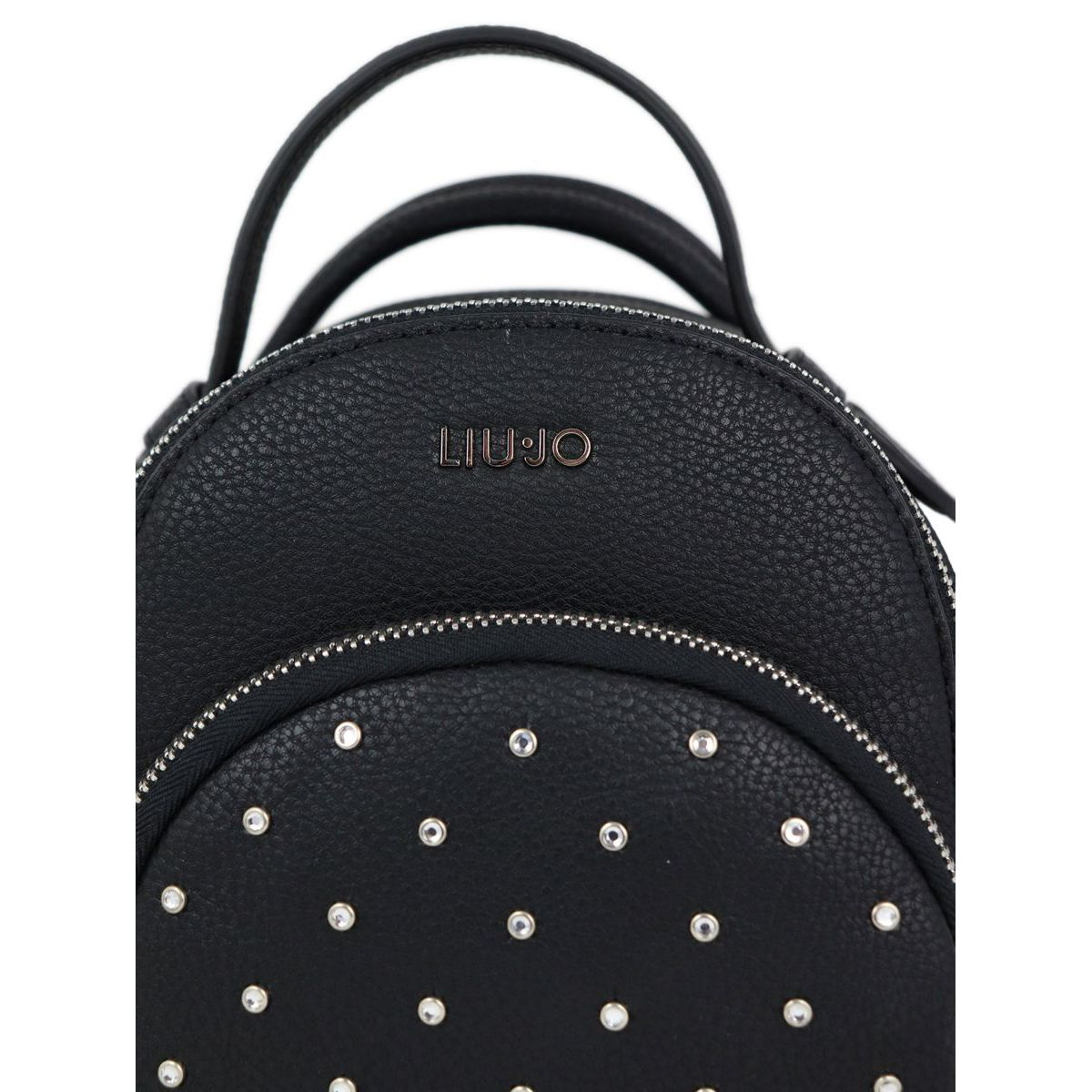 Faux leather backpack with rhinestones Black Liu Jo
