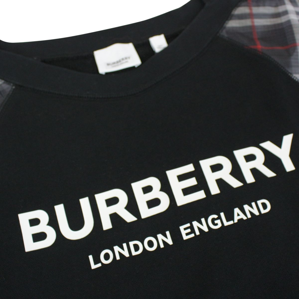 Ester sweatshirt with check on sleeves Black Burberry