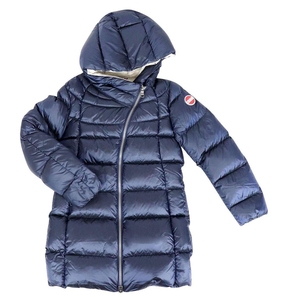 Long down jacket Blue Colmar