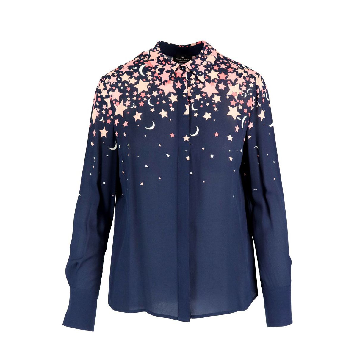 Shirt with contrasting star print Blue Elisabetta Franchi