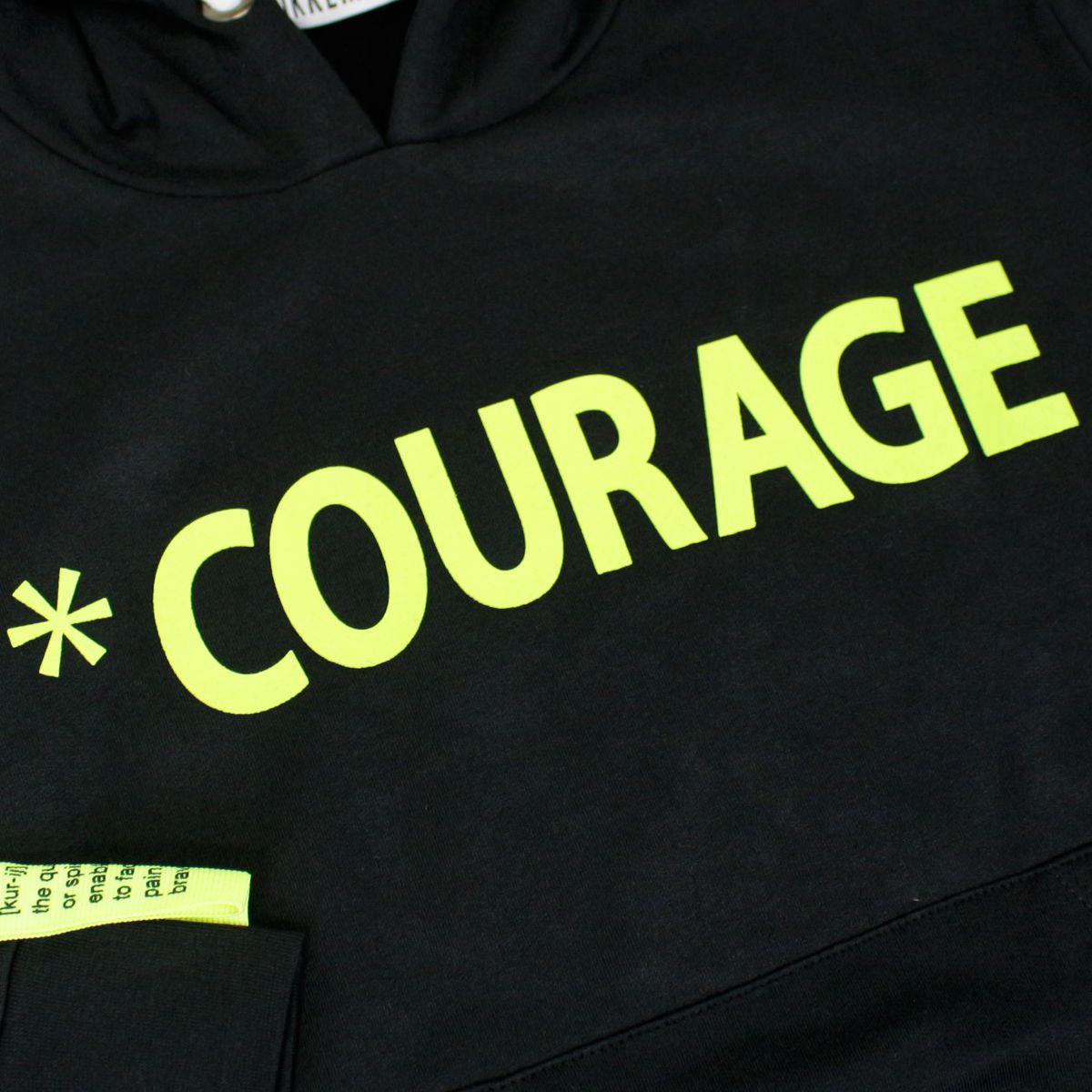 Motivational print cotton sweatshirt Black Bikkembergs