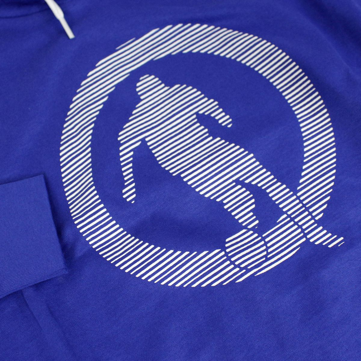 Cotton sweatshirt with hood and logo Bluette Bikkembergs