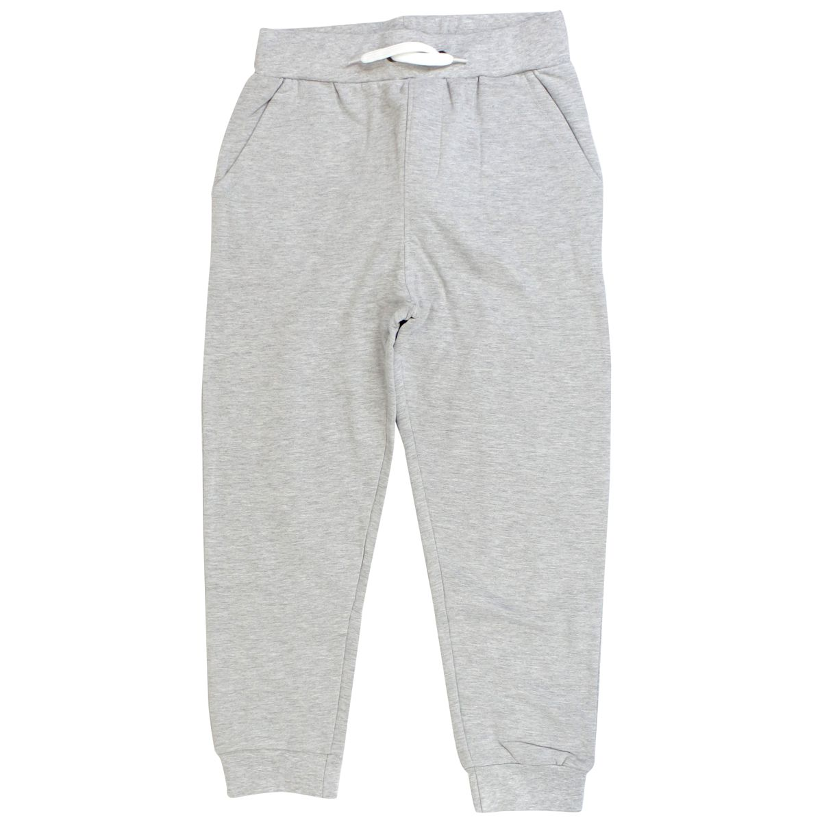 Cotton tracksuit pants with logo on the back Melange gray Bikkembergs