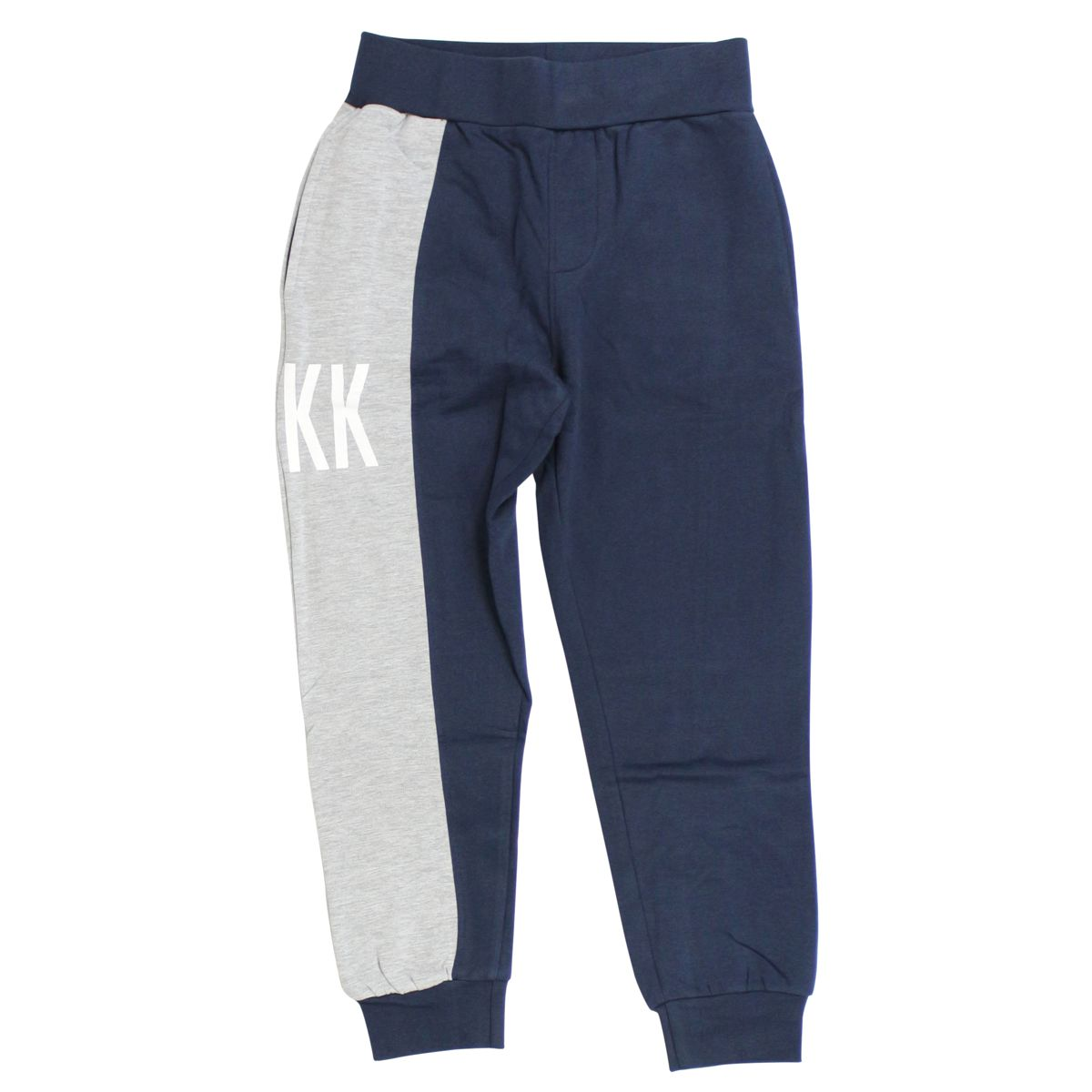 Cotton tracksuit with logo print Blue / gray Bikkembergs