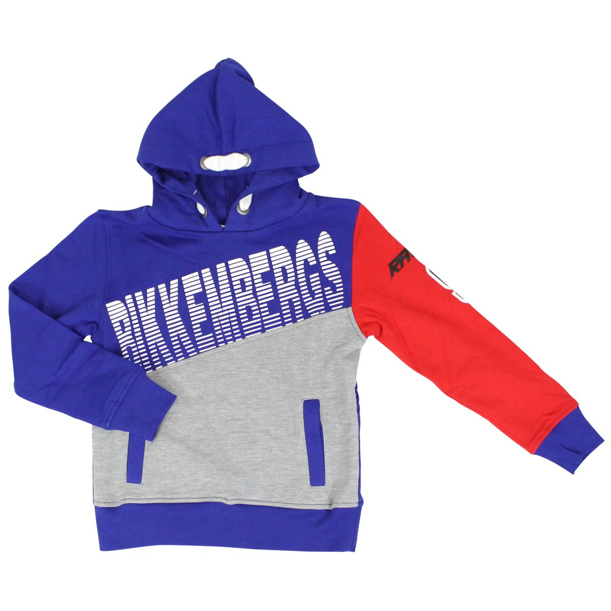 Cotton sweatshirt with hood and logo print Bluette Bikkembergs
