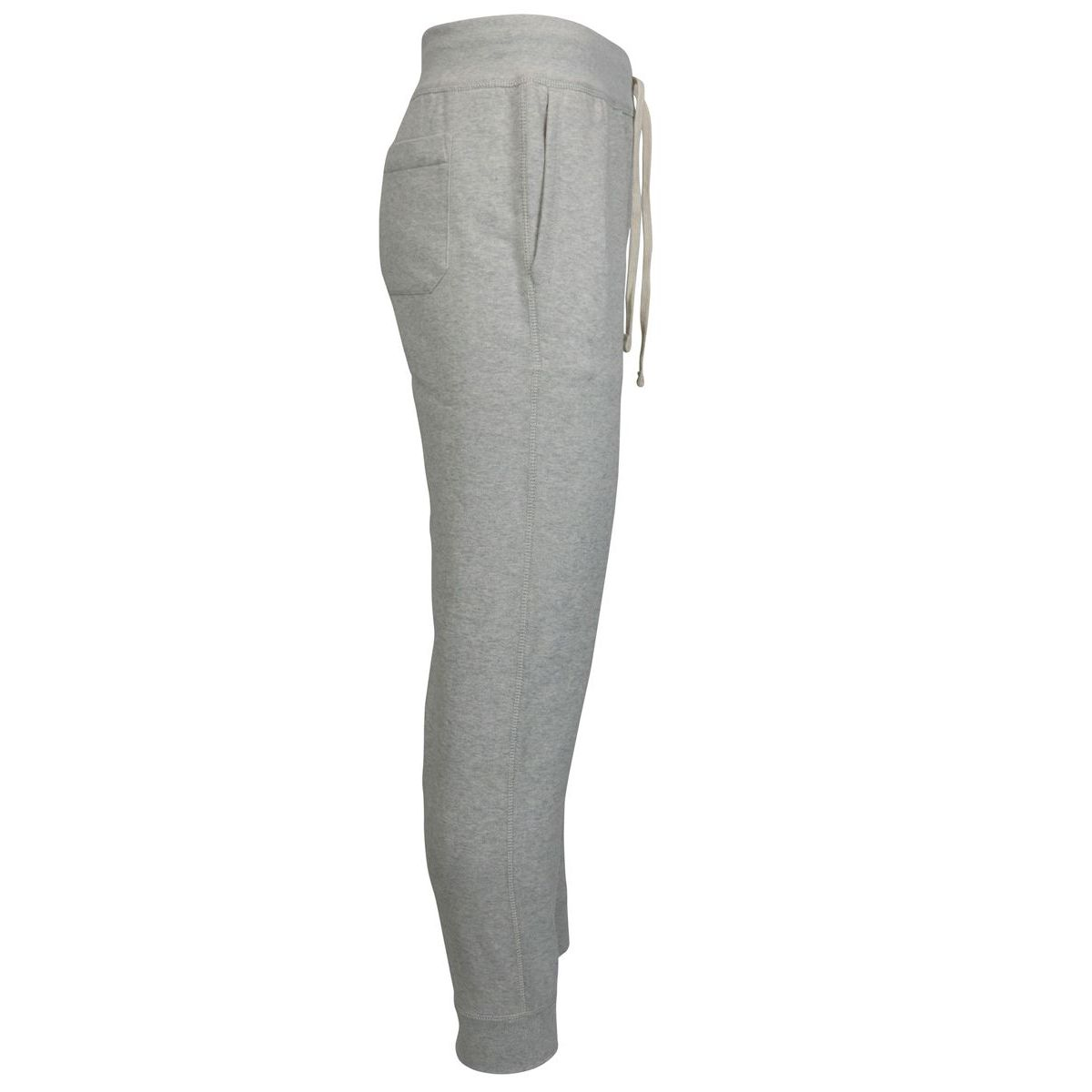 Cotton blend jogging trousers with contrast logo Grey Polo Ralph Lauren