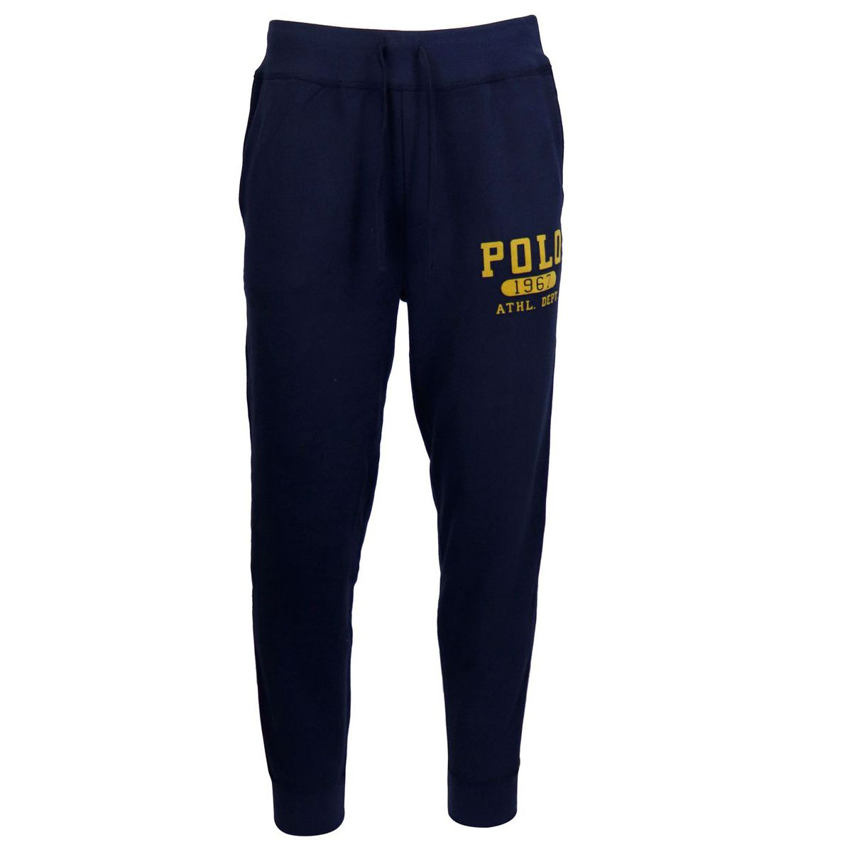 Cotton blend jogging trousers with contrast logo Navy Polo Ralph Lauren