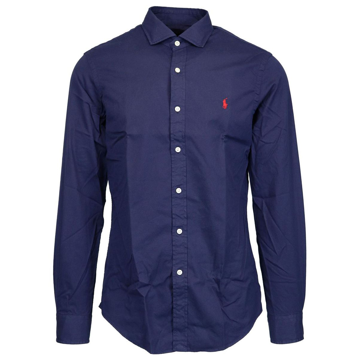 Slim French cotton twill shirt Navy Polo Ralph Lauren