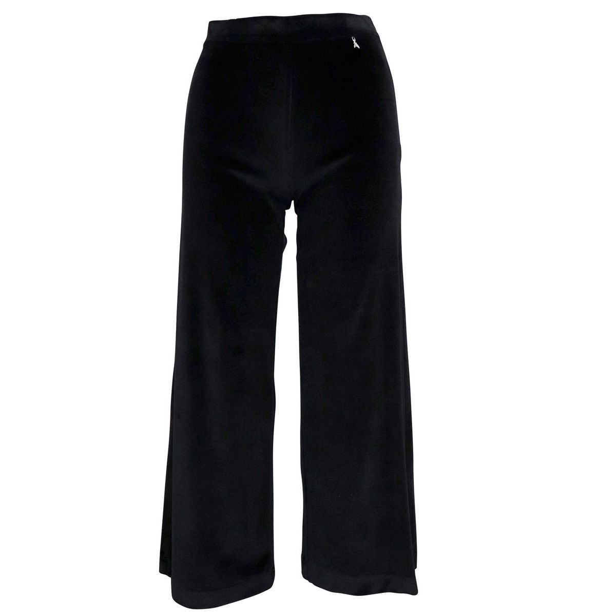 Velvet trousers with wide bottom Black Patrizia Pepe