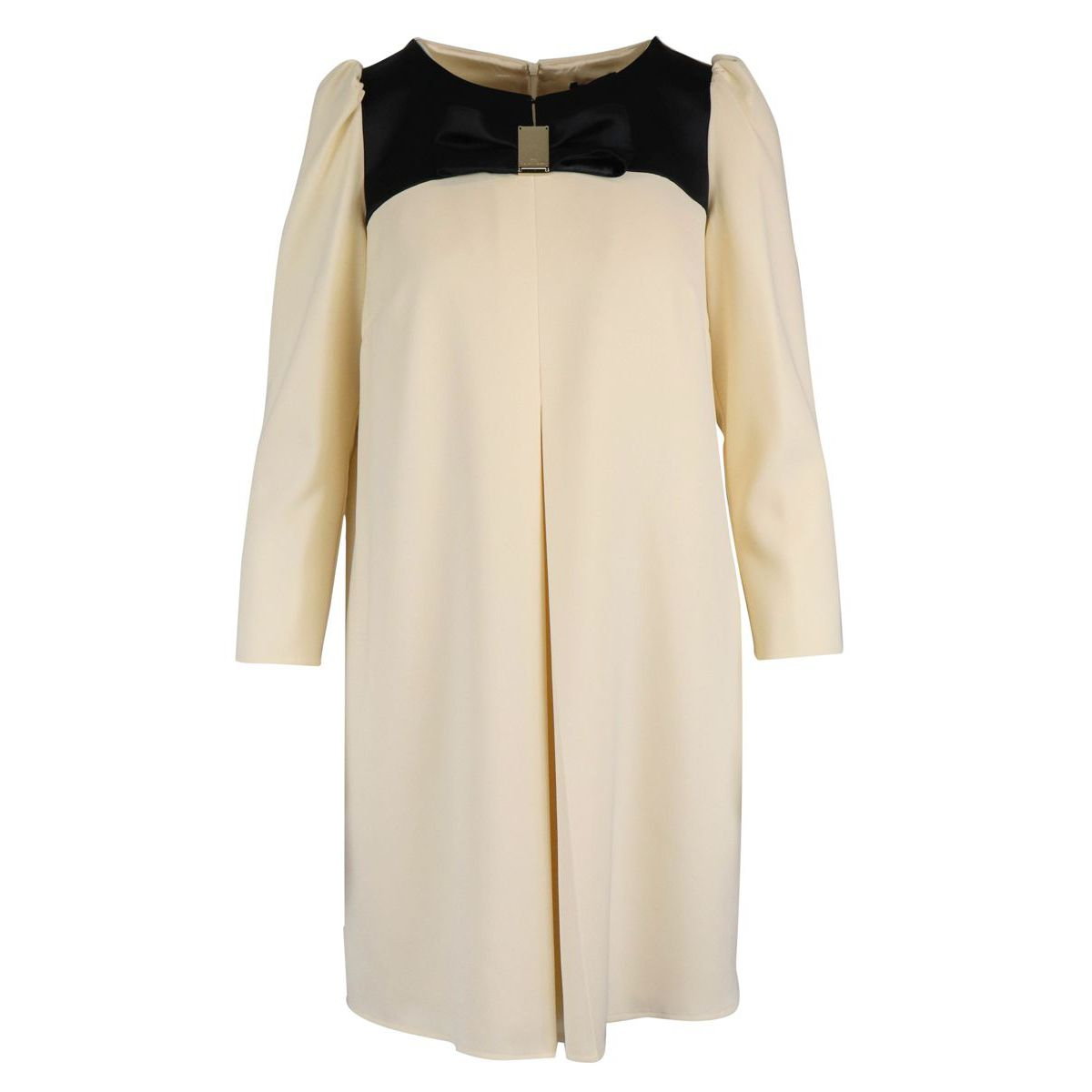 Soft dress with bow Butter / black Elisabetta Franchi