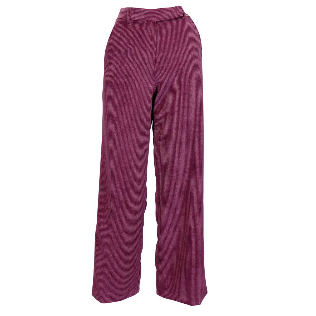 EDDA wide trousers in coarse corduroy Bordeaux Nenette
