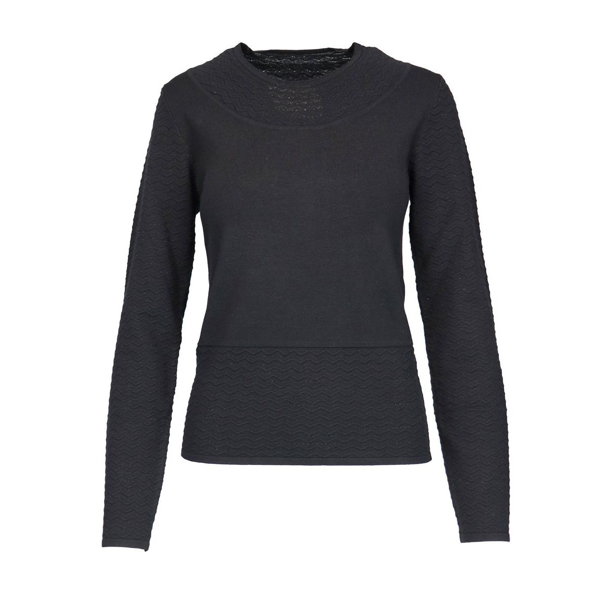 MORALES shirt with sleeves and wave-like details Black Nenette