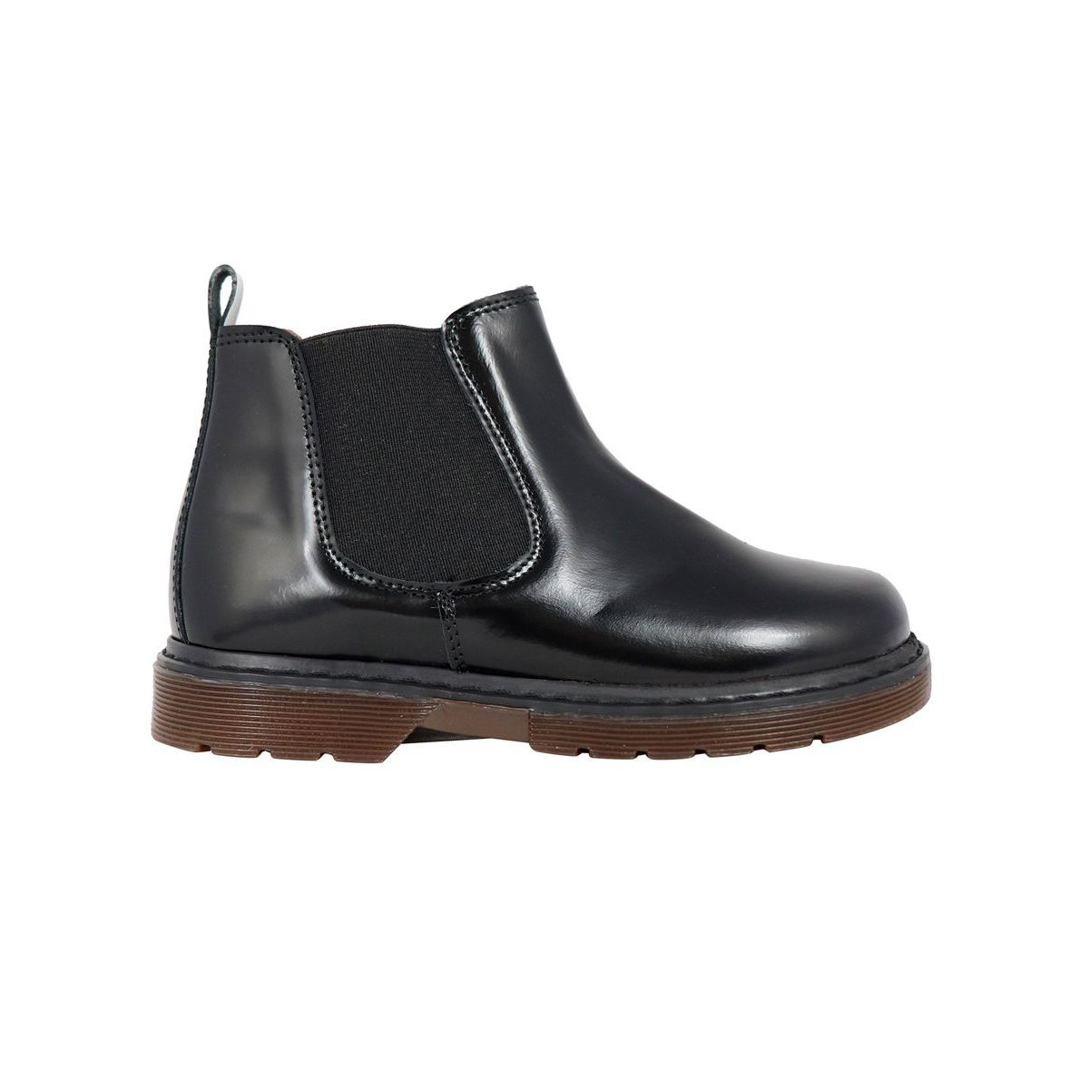Chelsea boot in shiny leather Black Clarys