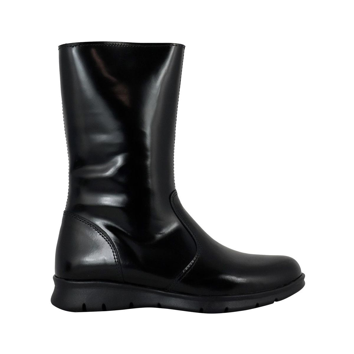 Boot in leather with zipper Black Clarys