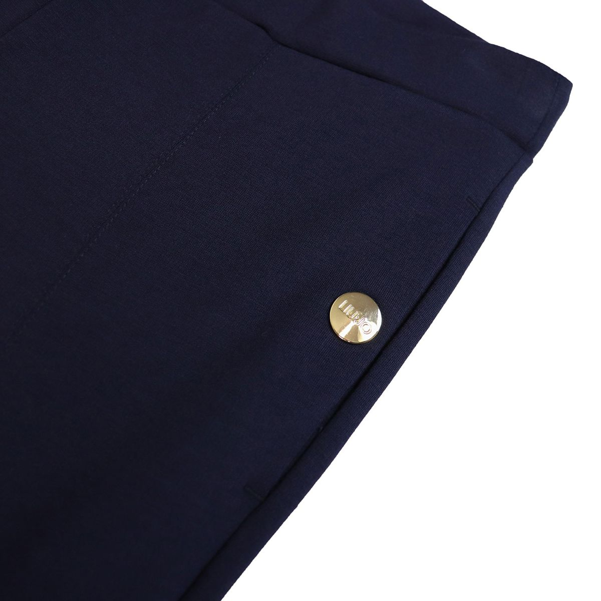 Leggings in viscose blend with buttons Blue Liu Jo