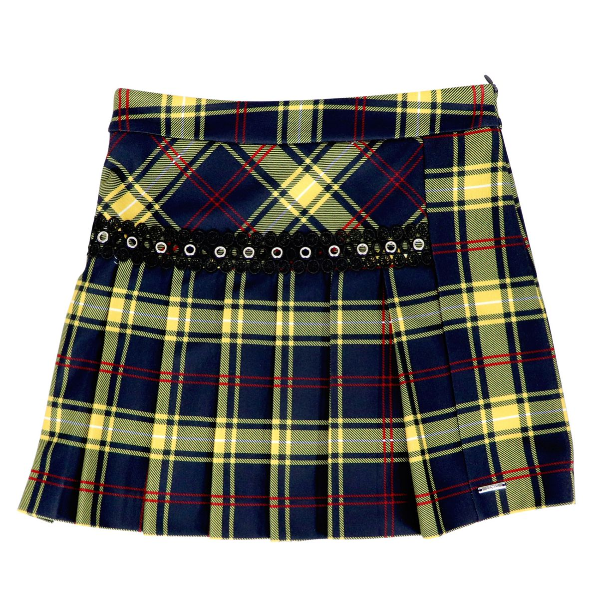 Scottish patterned pleated skirt Blue check Liu Jo