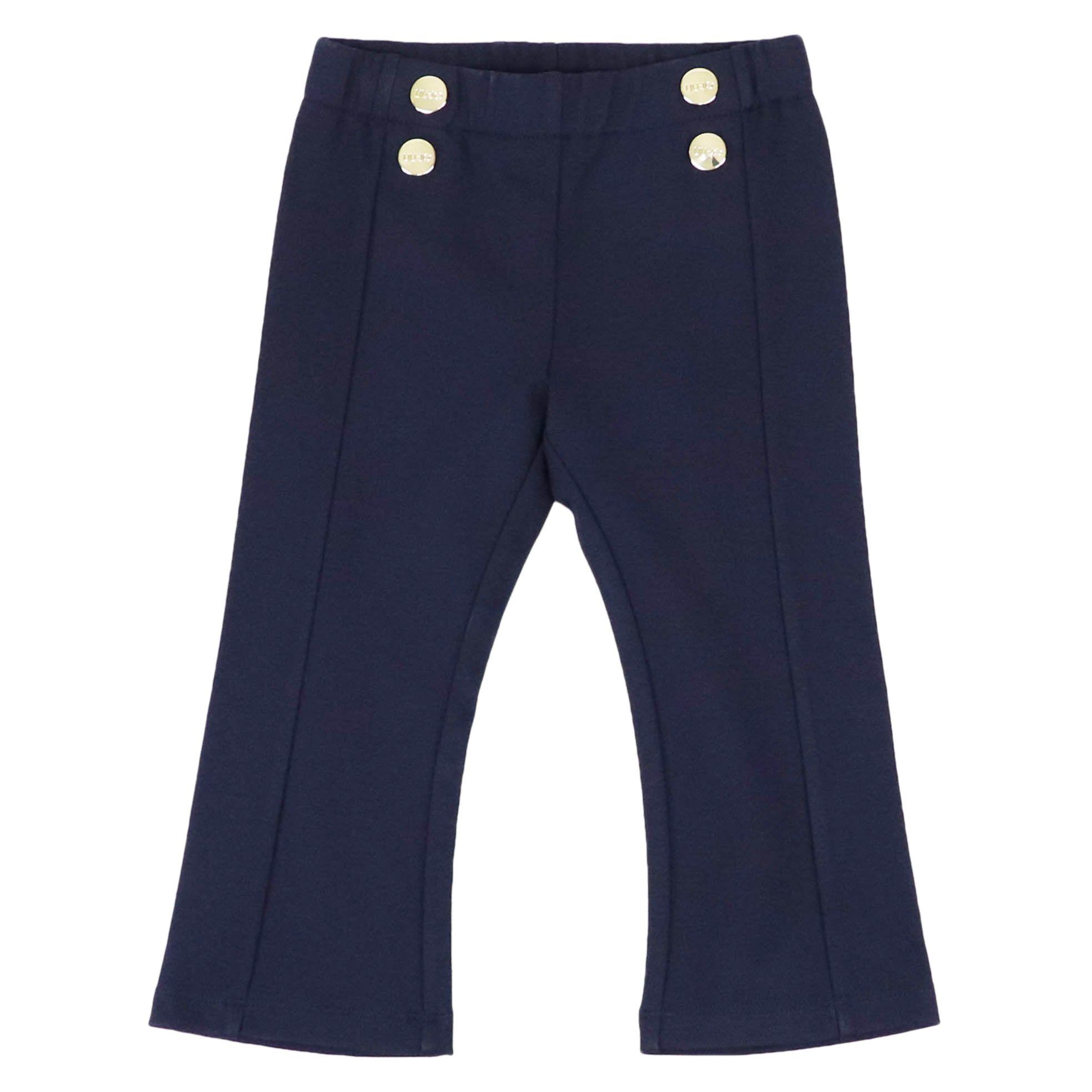 timeless design b5f6e 0f71a Pantalone in jersey punto milano con bottoni metallici