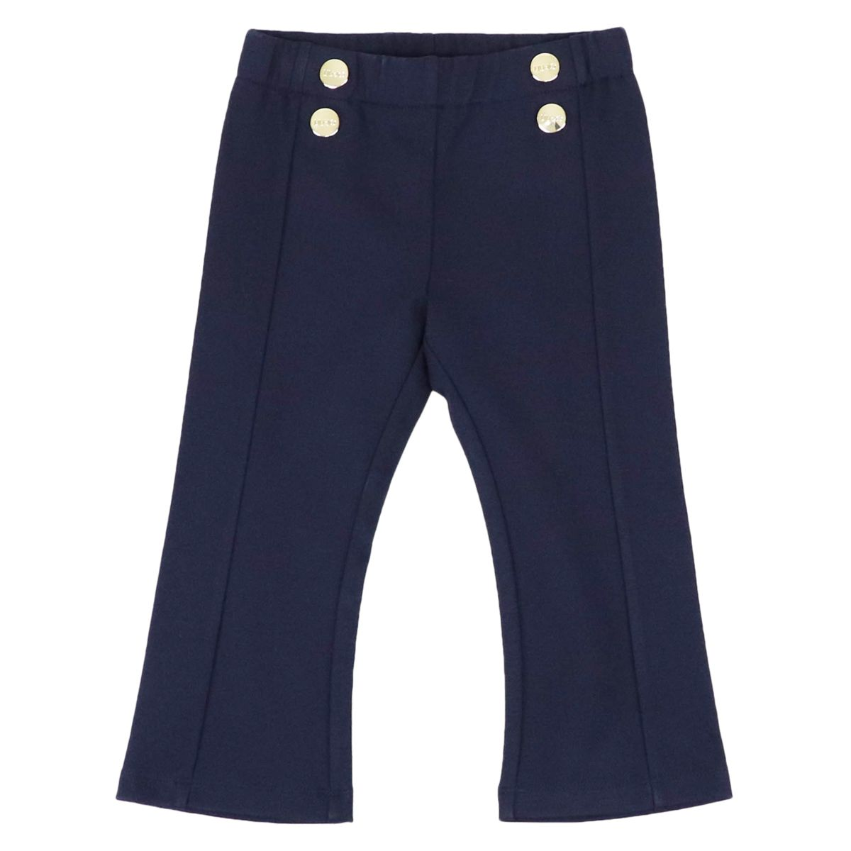 Milano stitch jersey trousers with metal buttons Blue Liu Jo